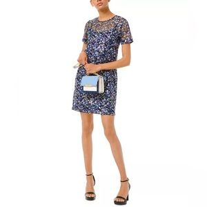 Michael Kors Milifleur Floral Sequin Shift Dress